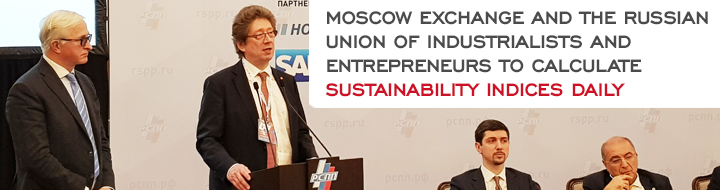 Moscow Exchange and the Russian Union of Industrialists and Entrepreneurs to calculate sustainability indices daily